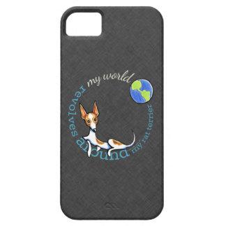 Mi carbón rojo de Terrier de rata del mundo iPhone 5 Protector