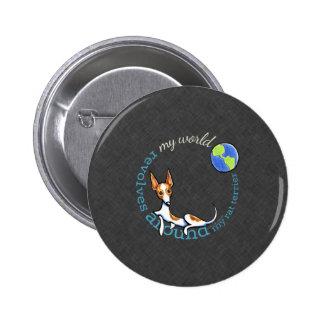 Mi carbón rojo de Terrier de rata del mundo Pin