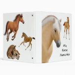 Mi carpeta de Avery de las memorias del caballo