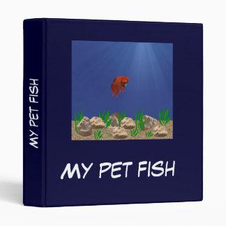 Mi carpeta de Avery de los pescados del mascota