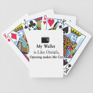 Mi cartera es como una cebolla, abriéndose hace baraja de cartas bicycle