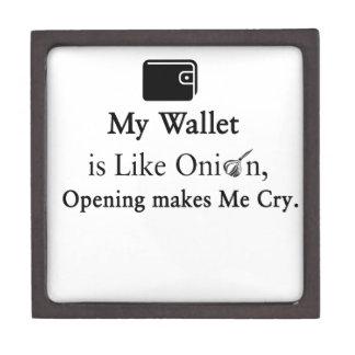 Mi cartera es como una cebolla, abriéndose hace cajas de recuerdo de calidad