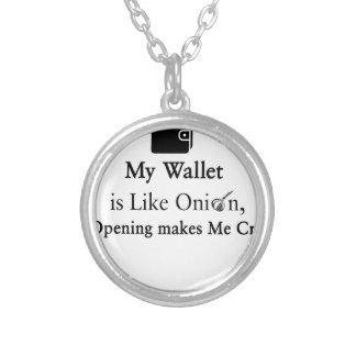 Mi cartera es como una cebolla, abriéndose hace collar plateado