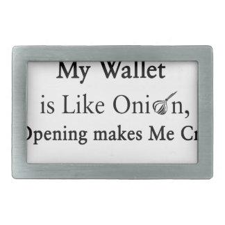 Mi cartera es como una cebolla, abriéndose hace hebillas cinturón rectangulares
