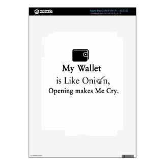 Mi cartera es como una cebolla, abriéndose hace pegatinas skins para iPad 3