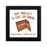 Mi cartera es como una cebolla caja de recuerdo