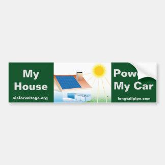Mi casa acciona mi coche - pegatina para el pegatina para auto