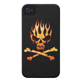 Mi caso llameante del iPhone 4 del cráneo iPhone 4 Fundas