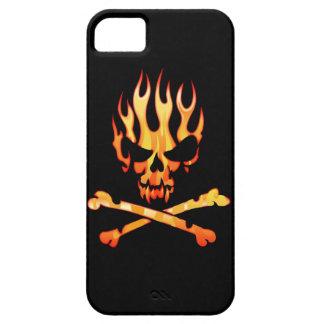 Mi caso llameante del iPhone 5 del cráneo iPhone 5 Carcasas
