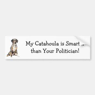 Mi Catahoula es más elegante que su político Pegatina De Parachoque