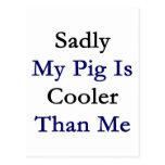 Mi cerdo es tristemente más fresco que mí tarjeta postal