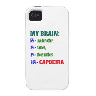 Mi cerebro el 90% Capoeira. iPhone 4/4S Carcasas