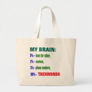 Mi cerebro el 90% el Taekwondo Bolsa Tela Grande