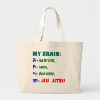 Mi cerebro el 90% Jiu-Jitsu. Bolsa Tela Grande