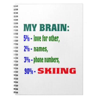 Mi cerebro el 90% que esquía libreta