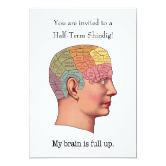 """Mi cerebro es ascendente lleno invitación 5"""" x 7"""""""