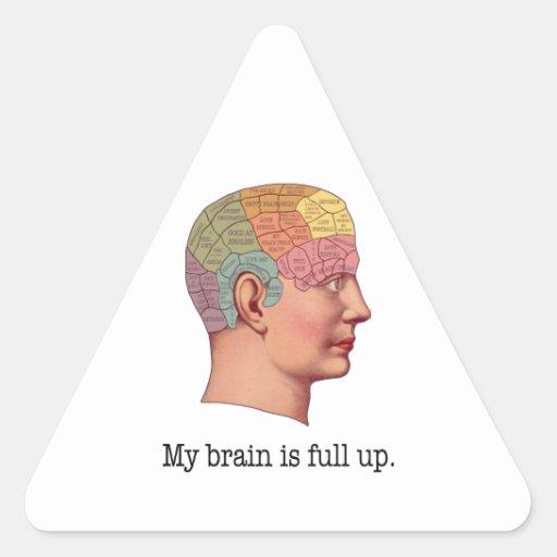 Mi cerebro es ascendente lleno pegatina triangular