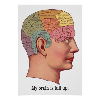 Mi cerebro es ascendente lleno póster
