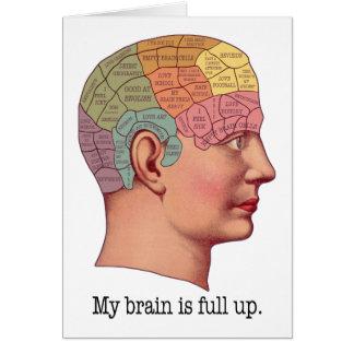 Mi cerebro es ascendente lleno tarjeta de felicitación