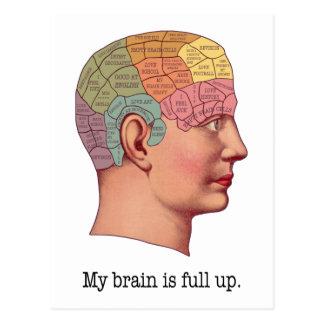 Mi cerebro es ascendente lleno postal