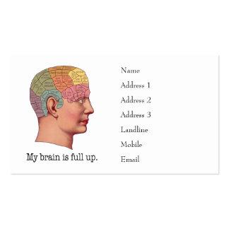Mi cerebro es ascendente lleno tarjetas de visita