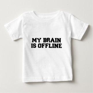 Mi cerebro es camiseta infantil fuera de línea