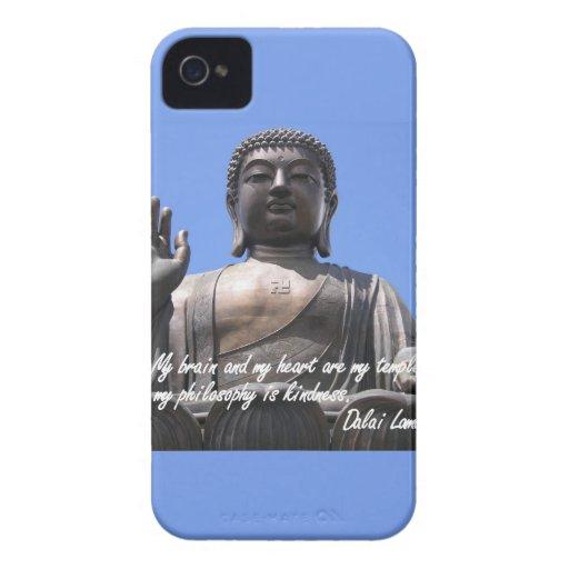 Mi cerebro y mi corazón son mis templos Dalai Lama iPhone 4 Case-Mate Cobertura