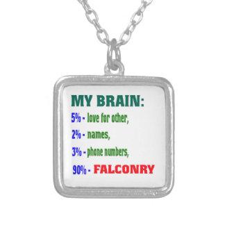 Mi cetrería del cerebro el 90% colgante cuadrado