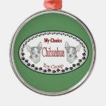 Mi chihuahua bien escogida ornamentos de navidad