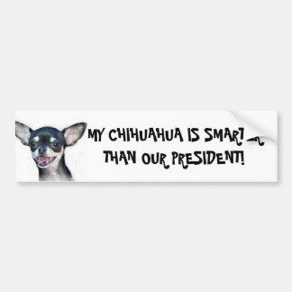 Mi chihuahua es una pegatina para el parachoques m pegatina de parachoque