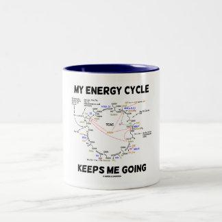 Mi ciclo de la energía me guarda el ir (el ciclo taza de café de dos colores
