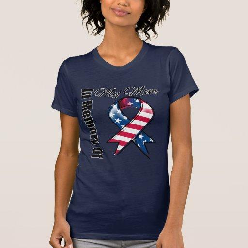 Mi cinta patriótica conmemorativa de la mamá camiseta
