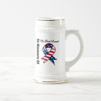 Mi cinta patriótica conmemorativa del mejor amigo jarra de cerveza