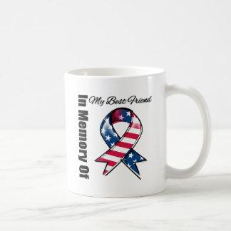 Mi cinta patriótica conmemorativa del mejor amigo taza básica blanca