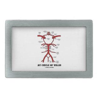 Mi círculo de Willis (anatómico) Hebilla De Cinturón Rectangular