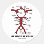 Mi círculo de Willis (humor anatómico de las arter Pegatina Redonda