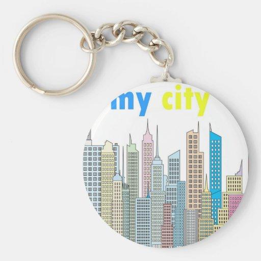 Mi ciudad llaveros personalizados