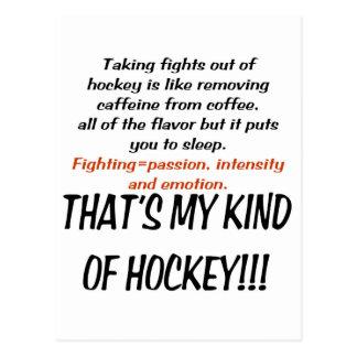 Mi clase de copia del hockey postales