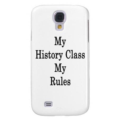 Mi clase de historia mis reglas