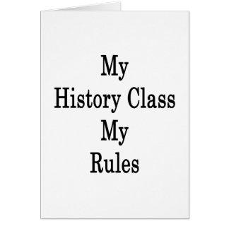 Mi clase de historia mis reglas tarjeta