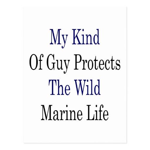 Mi clase de individuo protege la vida marina postal
