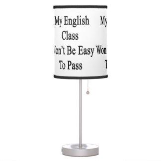 Mi clase de inglés no será fácil de pasar
