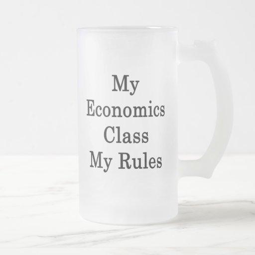 Mi clase de la economía mis reglas taza de café
