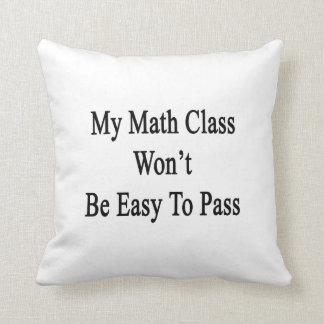 Mi clase de la matemáticas no será fácil de pasar almohada