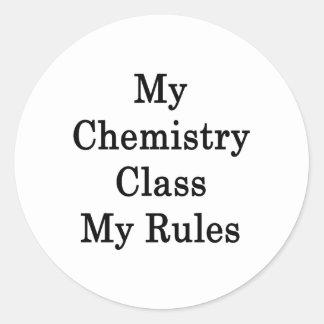 Mi clase de química mis reglas etiqueta