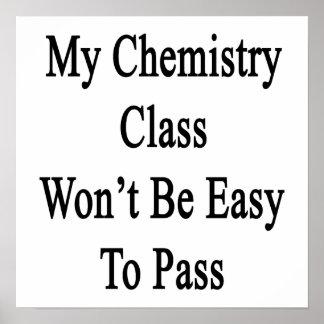 Mi clase de química no será fácil de pasar poster