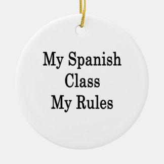 Mi clase española mis reglas ornato
