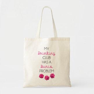 Mi club de consumición tiene un bolso divertido bolsa tela barata