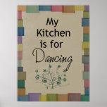 Mi cocina está para el poster de baile
