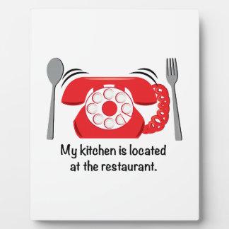 Mi cocina está situada en el restaurante placa